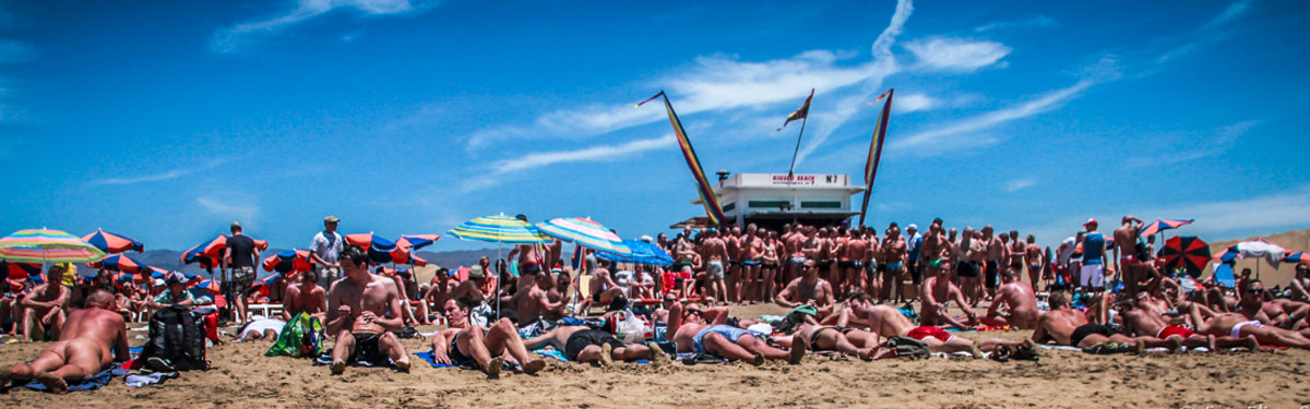 The Gay beach at Maspalomas